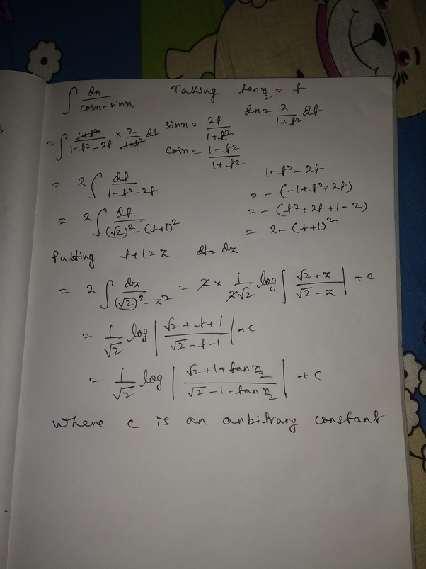 how to calculate the integral of 1  cosx -sinx