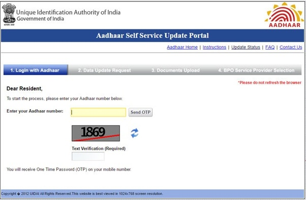 what is the procedure to change the address on an aadhar card quora