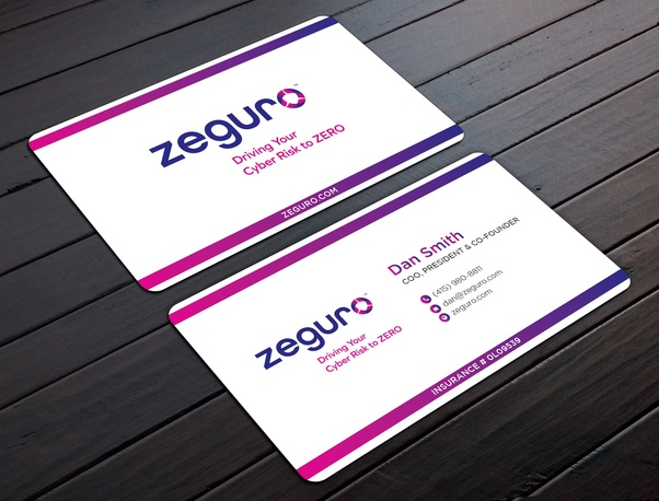 Which Is Best One Sided Or Two Sided Business Cards Quora