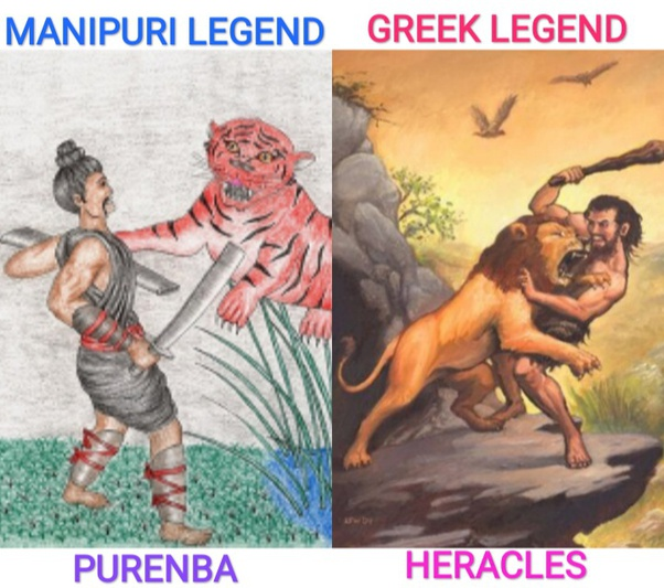 What Are The Similarities Between Greek Hero Heracles Hercules And Hero Purenba Of Ancient Manipuri Mythology Did They Slay Ferocious Beasts Quora