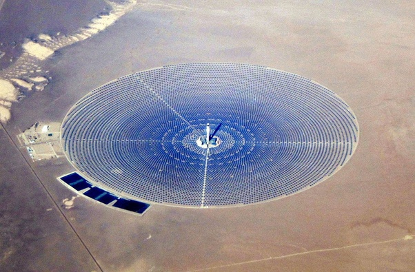 What is the capacity of a solar power plant using conventional ...