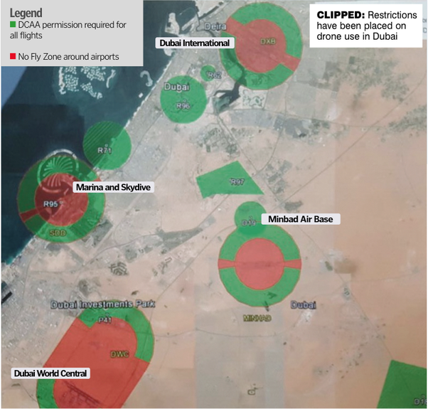 Is It Allowed To Fly A Drone In Dubai Quora - Drone ban map