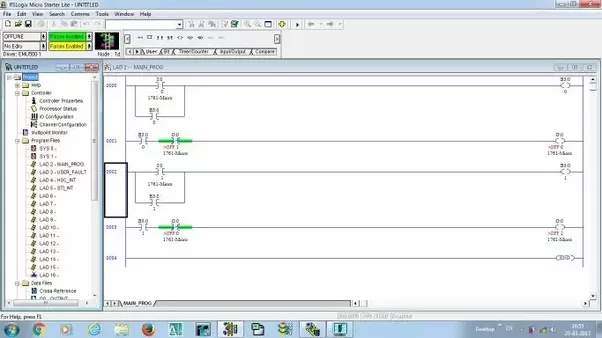 How To Interlock The Lights Using Plc Ladder Logic