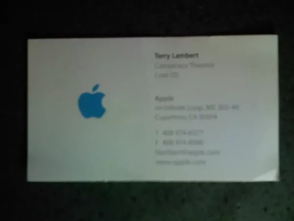We Really Didnt Care About Job Titles Heres My Title From Apple Directory Which Is Where The Business Cards Were Printed