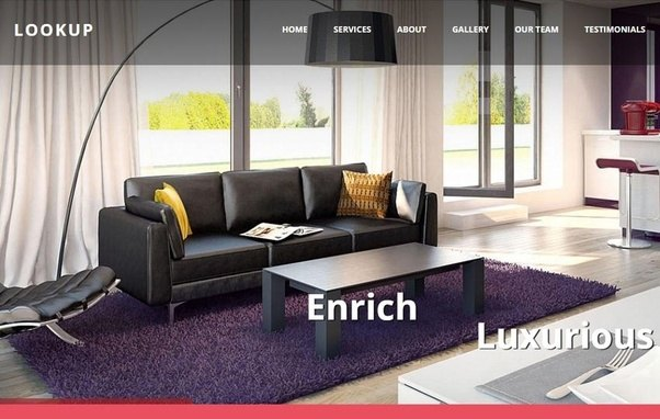 Interior Design Web Templates   WebThemez