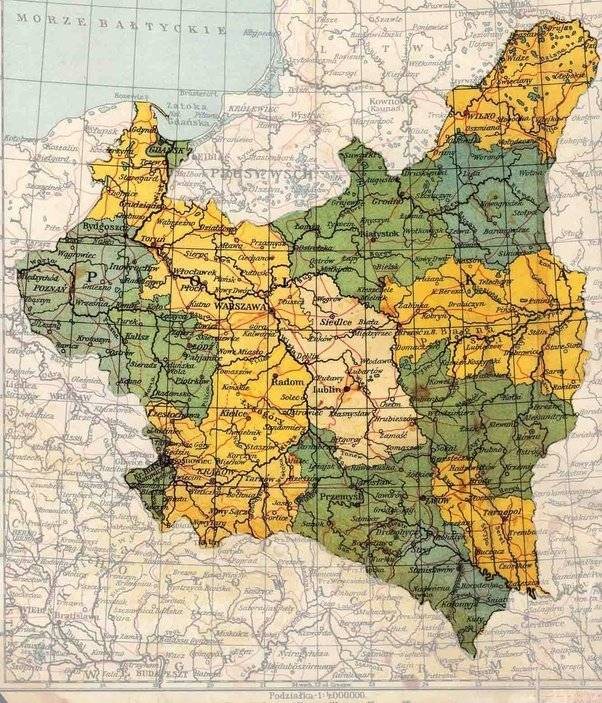 Where Can I Find A Preworld War II Political Map Of Poland Quora - Poland political map