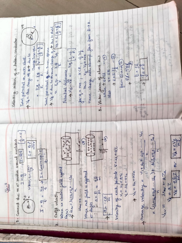 I want all the class 12th physics derivations separated as