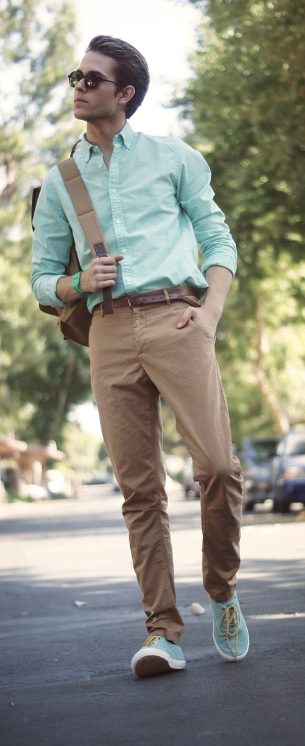 Which shirt is best match with khaki pants? - Quora