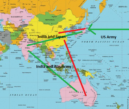 Will the us israel india australia and japan be able to counter they can empower each other and secure each other and also counter growing chinese army in south china sea the below map illustrate how india gumiabroncs Images