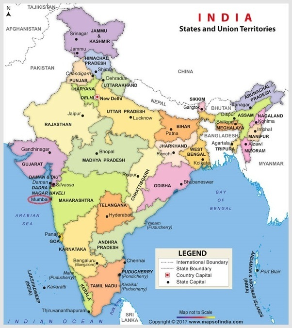 Is mumbai a city from south india quora no mumbai is usually considered as a part of western india heres a map for your reference gumiabroncs Gallery
