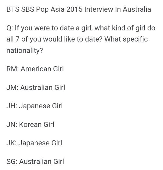 Do Bts Members Like Foreign Women Quora