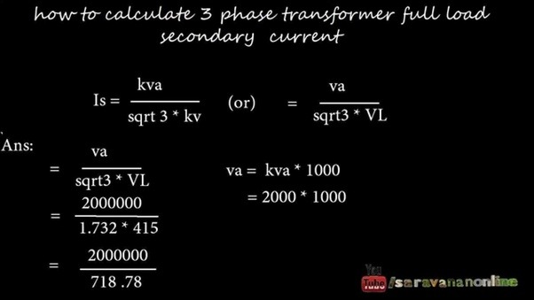 How To Calculate A Load Calculation For A Transformer Quora