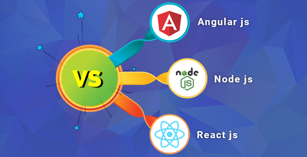 What are the overall differences between React js, Node js and