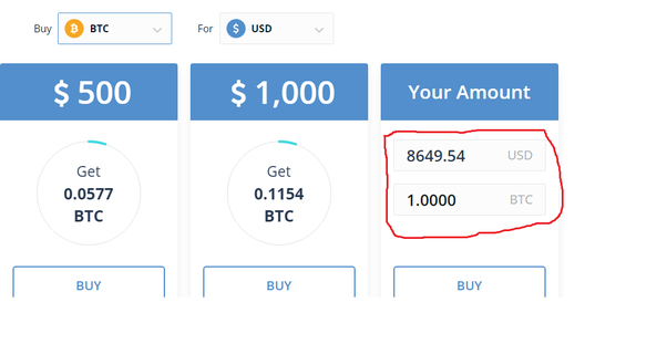 If You Want To It With Your Card Instantly Here Is The Cur Ing Price For One Bitcoin In Us Dollars
