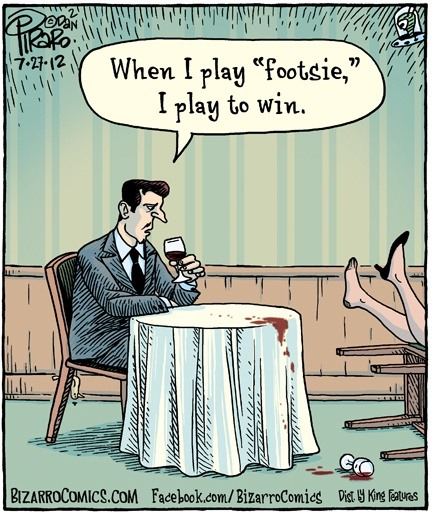 How do you play footsie?