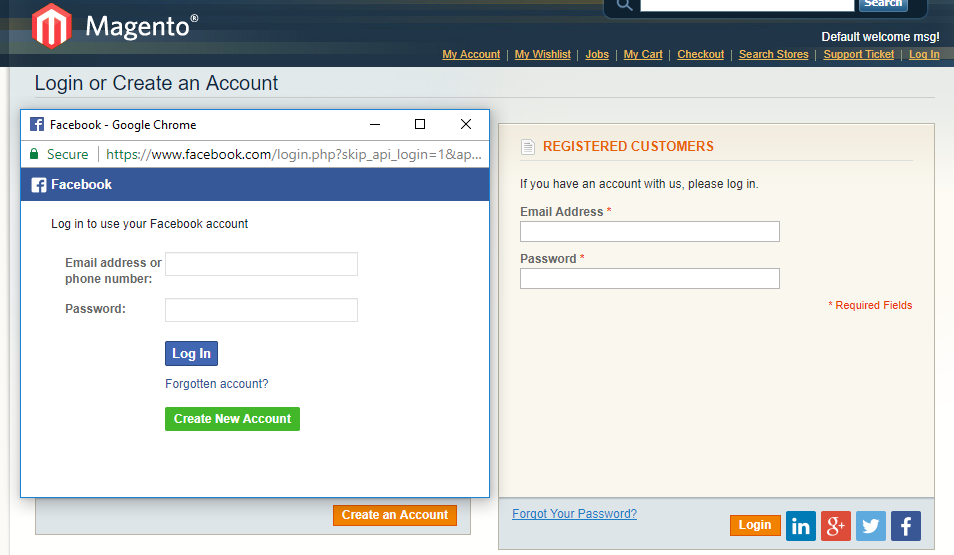 Which extension will be free and good for fb login for