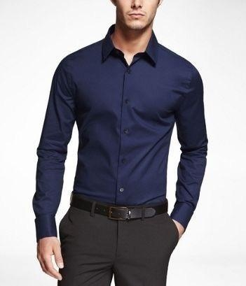 6a1e391a561 What colour pants go best with a navy blue shirt with white stripes ...