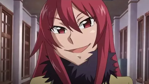 Evil anime guy with red hair