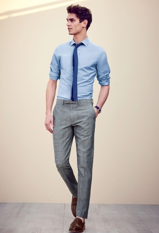 What color shirts match with gray pants? - Quora