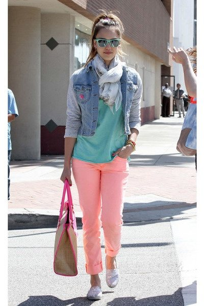 Living in Color Style: Peachy | Peach pants, Cute outfits