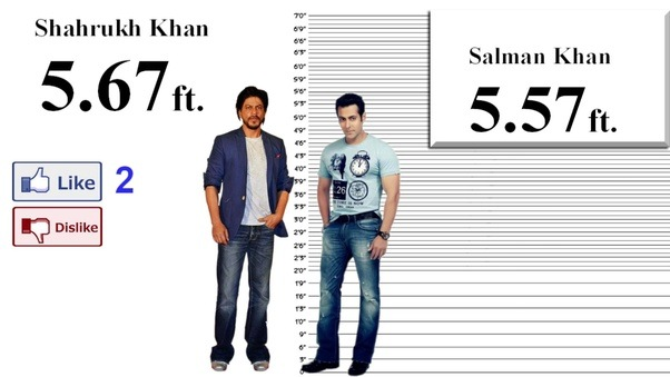 Is SRK really this tall (See description) ? Then what is ...