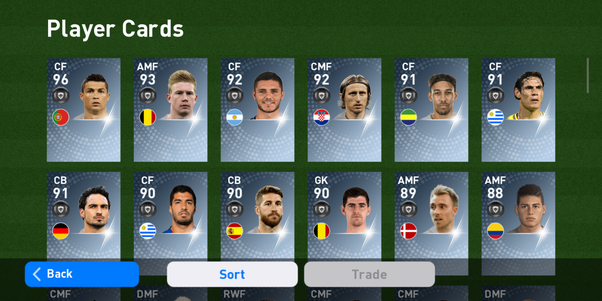 What is your squad in PES mobile? Can you share a screenshot