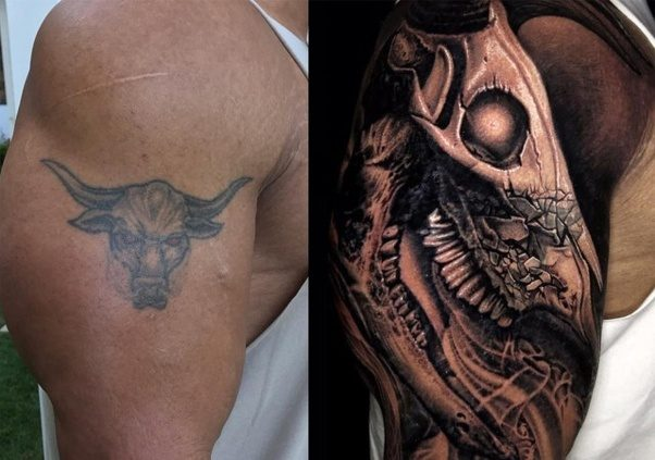 The Rock Changed His Brahma Bull Tattoo And Its Completely