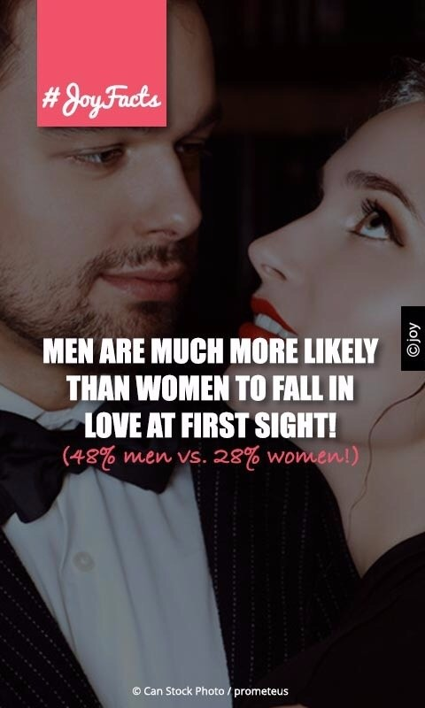 Do men fall in love at first sight