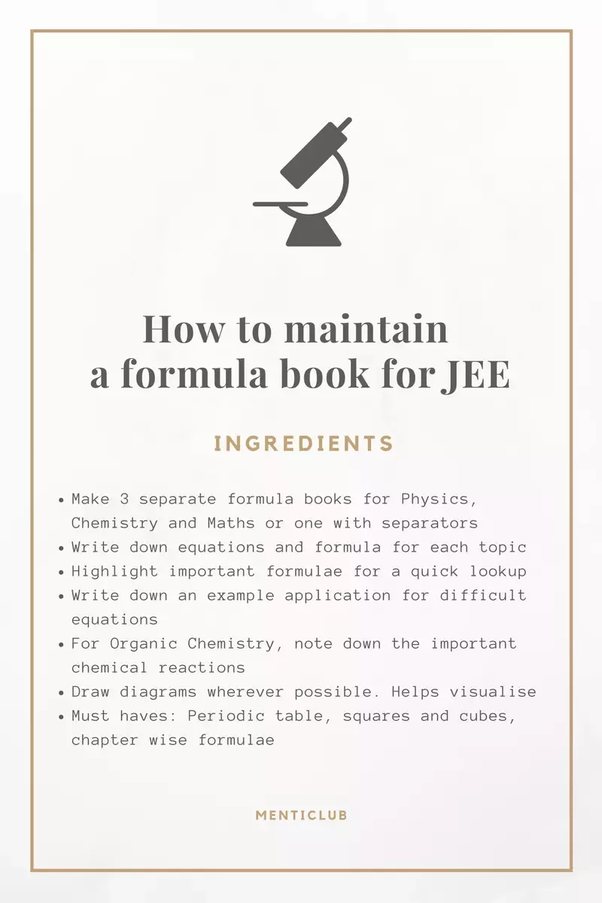 Which Formula Book Should I Refer For The Iit Preparations Quora