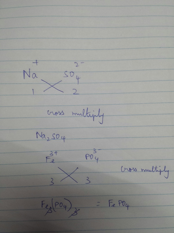 The Chemical Formula Of Sodium Sulfate Is Na2so4 And The Ferric
