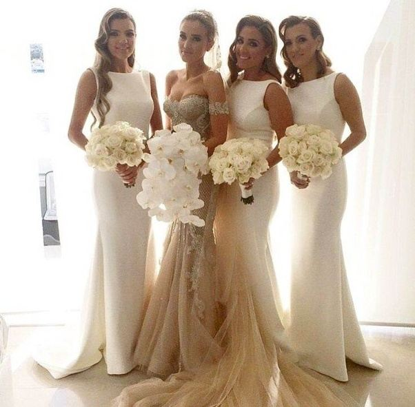 Can a bridesmaid wear white on the wedding day quora heres a good realistic example junglespirit Image collections