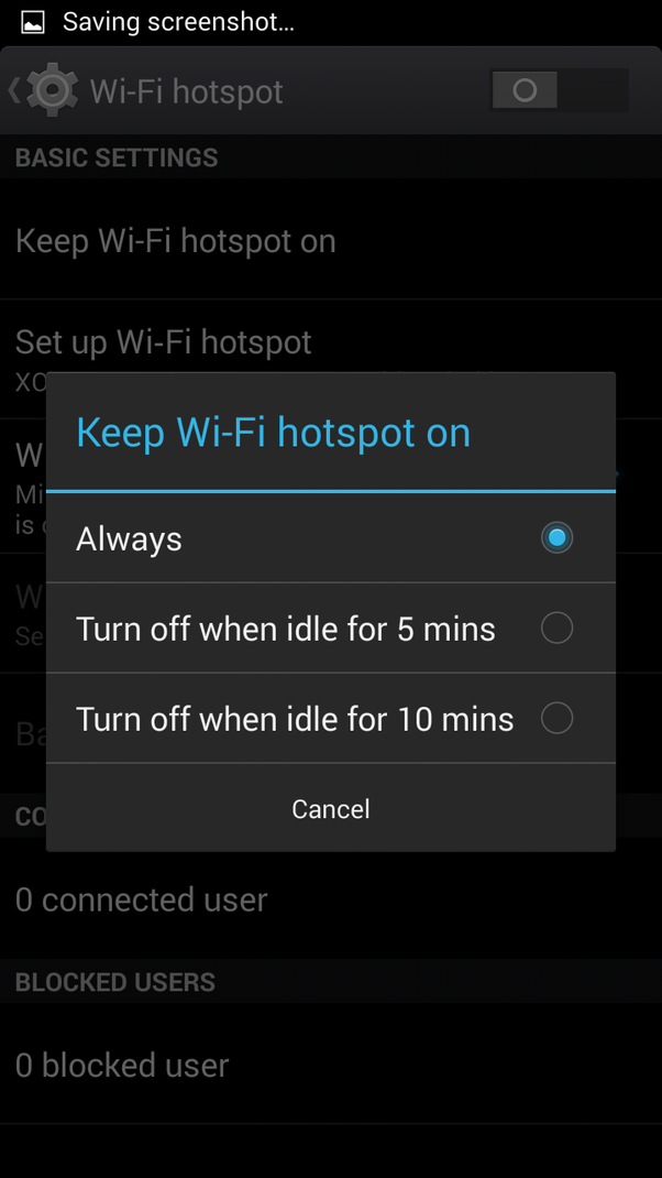 Why is my Android mobile WiFi hotspot not showing up on