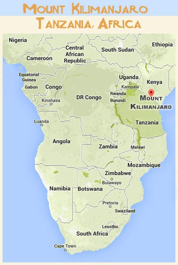 mt kilimanjaro map africa Which Is The Highest Point Of Continent Africa Quora mt kilimanjaro map africa