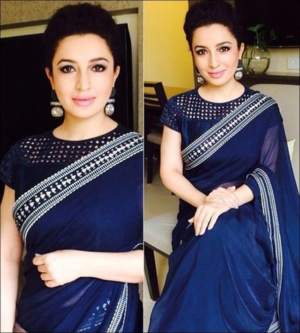 c6d116bc473e41 What designed saree blouse suits a person with a plump size? - Quora