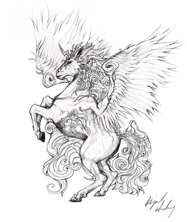 83 Awesome Y G Tattoos Cool Tattoo Designs: What Are Some Cool Pegasus Tattoo Designs?