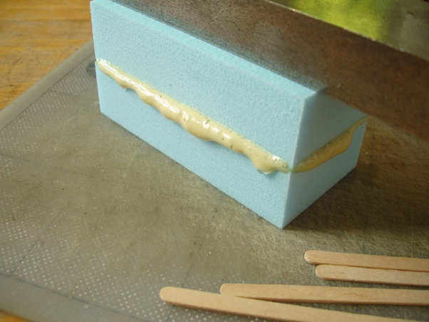 Ly Even Pressure Throughout And Rub From The Center Towards Outer Edges Of Foam Allow Glue To Set For Six Eight Hours