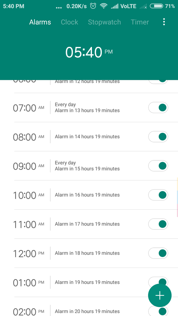 How to schedule an alarm every one hour on an Android device - Quora
