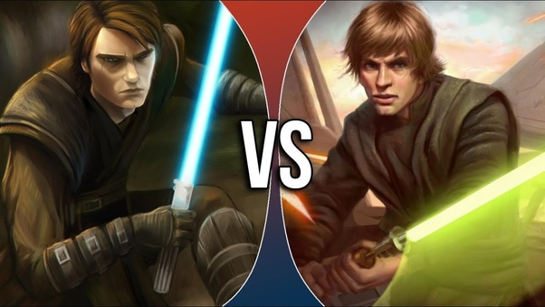 Who Would Win Anakin Skywalker Vs Luke Skywalker Quora