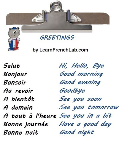 What are some french greetings and farewells quora 5 useful greetings in french to say hello m4hsunfo