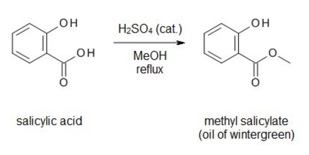 What product is produced when methanol reacts with
