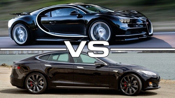 is the tesla model s faster than bugatti chiron quora. Black Bedroom Furniture Sets. Home Design Ideas