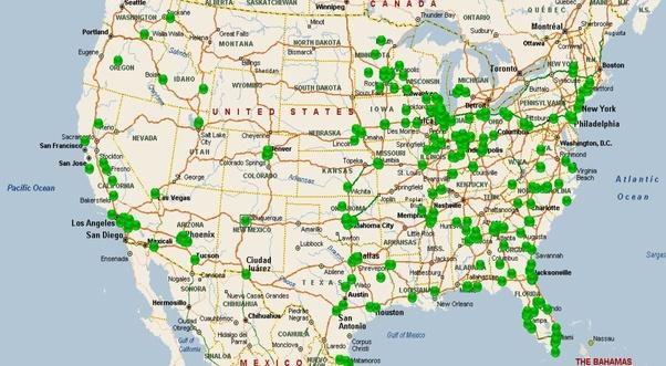 Cracker Barrel Map So Who Here Loves Cracker Barrel?   Quora