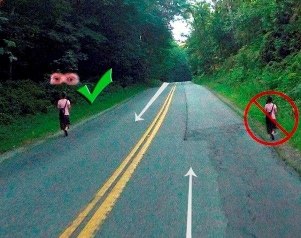 what side of the road should you walk on which side is safer quora