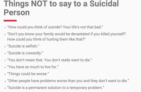 how to help someone not commit suicide