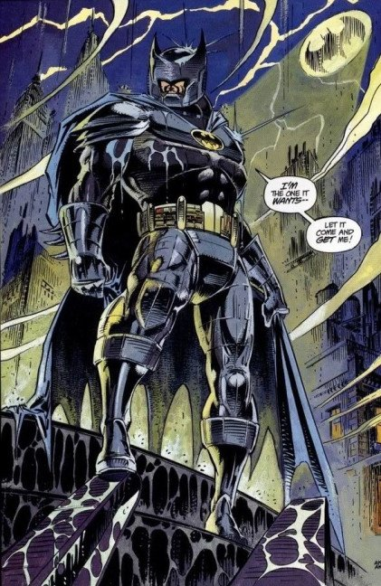 BATMAN AZRAEL KNIGHTFALL SUIT - Worn by Azrael in knightfall after he assumed the role of Batman in his absence. & What are all the batsuits worn by batman in the comics? - Quora