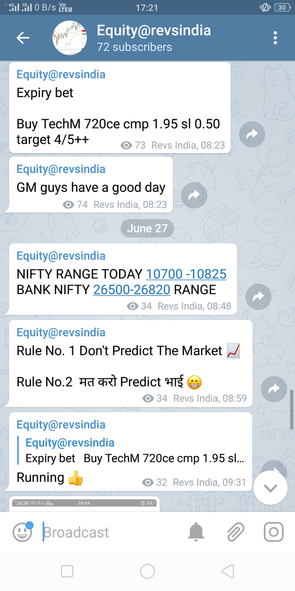 Stock day traders channels on telegram