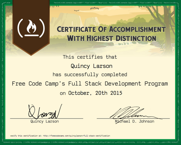 Does a certificate from FreeCodeCamp have any weight? Does