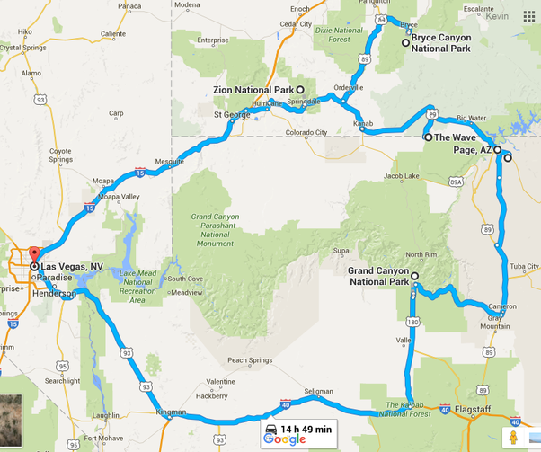 What is a good itinerary for a week long trip to the Grand Canyon ...