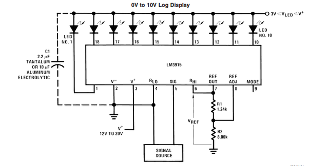 what do the resistors do in this circuit with an lm2917