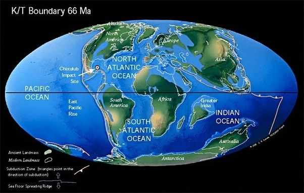 Geology is there a map of what the world looked like 65 million you can see in this pic publicscrutiny Images